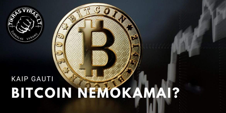 kaip gauti bitcoin nemokamai