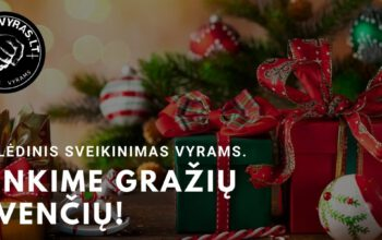 kalėdinis sveikinimas vyrams