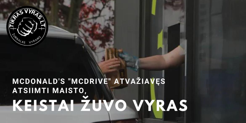 """McDonald's """"McDrive"""" atvažiavęs atsiimti maisto, keistai žuvo vyras"""